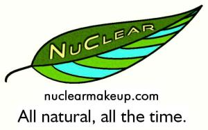 NuClear Makeup Logo with web and saying